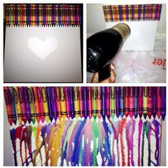 Crayon melting art - Steps....