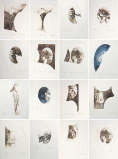 """Xavier Jallais  -  Gravures originales, numérotées et signées, 2012  -  12 x 16 cm    (à l'intérieur des 50 premiers exemplaires du catalogue d'exposition """"Automorphies"""") Catalogue, Photo Wall, Etchings, Radiation Exposure, Beginning Sounds, Photography"""