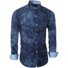 12.79$  Watch here - http://di5zw.justgood.pw/go.php?t=190612304 - Turn-Down Collar Long Sleeve Ethnic Tie-Dyed Shirt For Men