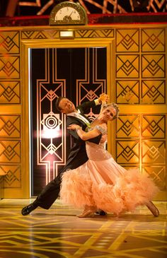 SCD week 12, 2015, semi-final.  Kellie Bright & Kevin Clifton. American Smooth, 2nd dance. Top of the leader board. Credit: BBC / Guy Levy