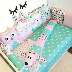 Бортики зверюшки в кроватку, детские подушки❤️ Crib beds, pillows for baby,  crib bumpers❤️ Подушка облако, корона, сова, котик, зайка, единорог Baby Owls, Baby Room Decor, Softies, Toddler Bed, Nursery, Baby Shower, Dolls, Pillows, Inspiration