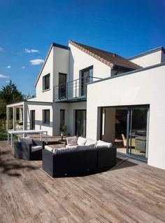 GeoCeramica 30x120 Timber Noce tegel | Tuin tegel houtlook | Bestratingsmarkt.com Go Outside, Dream Garden, Terrace, Pergola, Outdoor, Mansions, House Styles, Modern Interiors, Decks