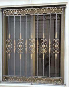 Super Grill Door Design Gates 59 Ideas Source by Iron Window Grill, Grill Gate Design, Window Grill Design Modern, House Window Design, Balcony Grill Design, Steel Gate Design, Iron Gate Design, Railing Design, Steel Grill Design