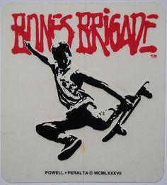 Bones Brigade sticker - Powell and Peralta / 1987
