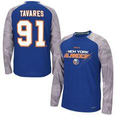 John Tavares New York Islanders Reebok TNT Long Sleeve PlayDry Name & Number T-Shirt - Royal