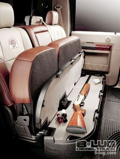 Great idea! Cabelas edition underseat gun storage - Ford Truck Enthusiasts Forums! This would be great for Brendan!
