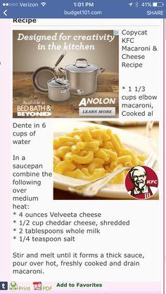 Copycat kfc mac & cheese