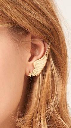 Winged ear cuff