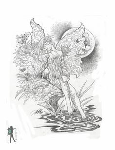 Coloring Pages for Adults Only   ... Fairy & Mermaid Blog: Free Fairy Coloring Pages by Various Artists