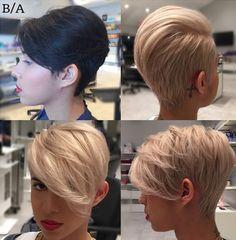 Charmante Kurzhaarfrisuren für Frauen mit blonden Haaren