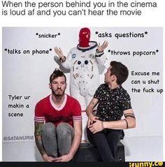 Josh: Tyler ur makin a scene Me: THIS AIN'T A SCENE IT'S A GOH DAH ARHS REHS!!!