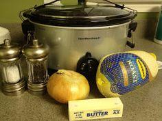 Everyday Thoughts: Crockpot Turkey. Uses a frozen turkey!
