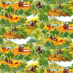 Days Gone By International Harvester Country Farming Cotton Fabric by the Yard #CranstonVIP