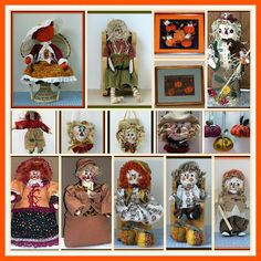"""w//o stake JOINTED SCARECROW /""""SAWYER/""""-42/"""" TALL FALL PAPER PATTERN to create"""