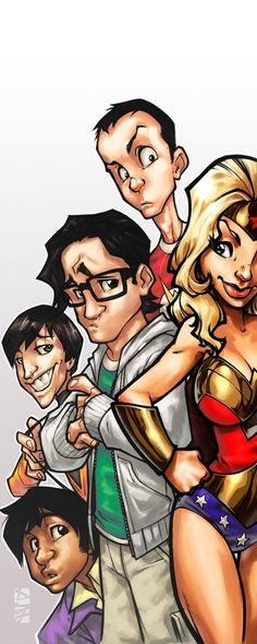 Big Bang Theory in Cartoon