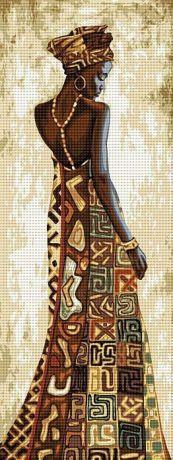 Africana Cross Stitch Kits, Cross Stitch Designs, Cross Stitch Patterns, Cross Stitching, Cross Stitch Embroidery, Africa Art, Black Artwork, African American Art, Painting