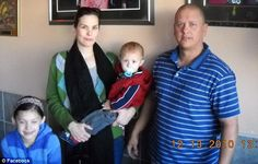 Family: Goforth, pictured above with Kathleen in 2010, leaves behind two children...