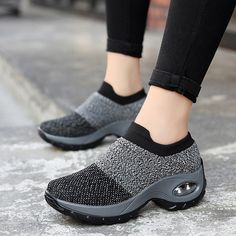 Shoes Woman Mesh Women Sneakers Fashion Breathable Casual Shoes Platform Sneakers For Women Sock Sneakers Spring 2020 Moda Sneakers, Sneakers Mode, Casual Sneakers, Casual Shoes, Shoes Sneakers, Comfy Shoes, Casual Wear, Men Casual, Womens Fashion Sneakers