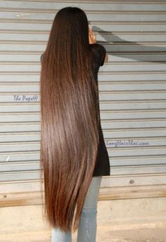 women with long hair -I love this because it's looks healthy, clean and at one length