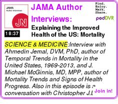 #SCIENCE #PODCAST  JAMA Author Interviews: Covering research in medicine, science, & clinical practice. For physicians, r    Explaining the Improved Health of the US: Mortality Trends 1969-2013    HEAR:  http://podDVR.COM/?c=48546950-805b-c4b0-cf47-6ad65fd478dc