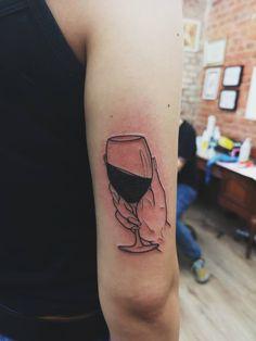 Wine lover #WineTattoo #Ideas #Tattoo Tattoos For Lovers, Tattoos For Guys, Tattoos For Women, Wine Tattoo, Back Tats, Wine Night, Human Art, Tattoo Inspiration, Body Art