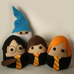 Felt Harry Potter Mini Doll set. These are great. Flapendo!