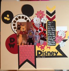 Disney with Pooh and Tigger - Scrapbook.com