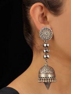 #silver #jhumkas