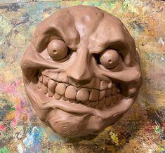 Legend of Zelda Moon Majoras mask Nintendo Clay sculpture monster clay Zelda Moon, Zelda Majoras Mask, Monster Mask, Masks Art, Mortal Kombat, Legend Of Zelda, Nintendo, Skull, Clay