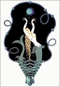 "Erte Matted Art Deco Print ""Sapphire"" The Precious Stones Series c. 1982 ~ Art Deco Decor - Original Vintage Erte Print - Ready To Frame by VintageAdWorld on Etsy Arte Art Deco, Moda Art Deco, Estilo Art Deco, Art Nouveau, Erte Art, Romain De Tirtoff, Art And Illustration, Art Deco Stil, Inspiration Art"