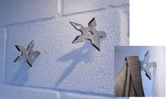 Weaponry Decor - Mandatory for every half decent man cave are these Ninja Coat Hooks. What else would any self respecting man hang their coat on?  Priced at under $...