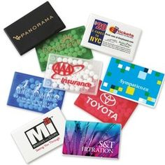 Promotional products - Rectangular Mint Card - Freshen up your next direct mail campaign or tradeshow giveaway with one of our mint cards.  As low as $1.21 each