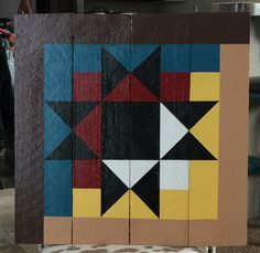 Barn Quilt, log cabin with an Ohio Star