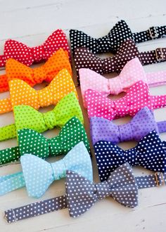 New 8 PASTEL COLOR MIXED BOWS Stickers DECORATE Polka dot Lady Collection