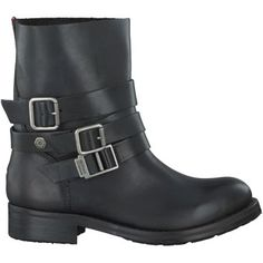Zwarte Tommy Hilfiger Korte laarzen BIKER 5A