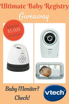 Our Ultimate Baby Registry #giveaway includes vtech's awesome digital baby monitor, plus nearly $5,000 in other baby registry essentials. Enter now!