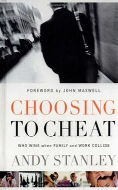 Choosing to Cheat: Who Wins When Family and Work Collide? by Andy Stanley http://www.amazon.com/dp/1590523296/ref=cm_sw_r_pi_dp_pis7tb044TACV