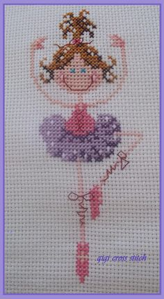ballerina cross stitch .