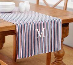 Tobi Stripe Table Runner #potterybarn