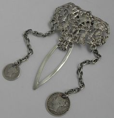 LOVELY ENGLISH ANTIQUE VICTORIAN SOLID STERLING SILVER CHATELAINE B1894 | eBay