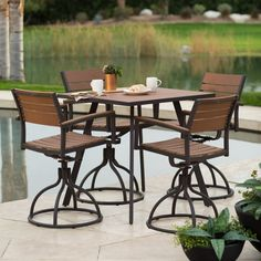 Have to have it. Belham Living Carmona Collection Balcony Height Patio Dining Set - $849.98 @hayneedle