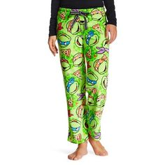 L or XL - Women's Teenage Mutant Ninja Turtles Cozy Fleece Pajama Pant