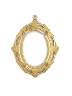 Raw Brass Victorian Style Oval 30mm x 22mm by SteampunkSupplyStore, $2.45