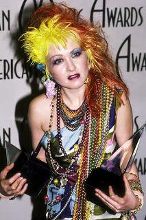 Wild hair a la Cyndi Lauper Power Dressing, Cyndi Lauper Costume, Grace Jones, Cindy Lauper 80s, 80s Fashion Icons, 80s Rock Fashion, Punk Fashion, Divas, The Wedding Singer