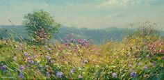 'August Meadow, Bonsall' by Mark Preston. Part of his two man exhibition with Rex Preston, opening at gallerytop on 3 October 2015