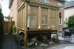privacy fence ideas patio | The Art of Wood - Patio Fence and Deck Design in Durham Region ...