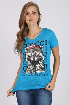 T-Shirt Colcci Raccon Azul - BabadoTop