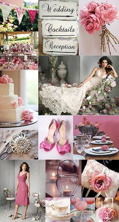 Pink shabby chic wedding