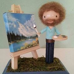 Absolutely love this little Bob Ross. Want it!