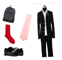 """""""Cesar- School Outfit"""" by chocolatecandy05 ❤ liked on Polyvore featuring Prada, Stacy Adams, Corgi, JanSport, men's fashion and menswear"""